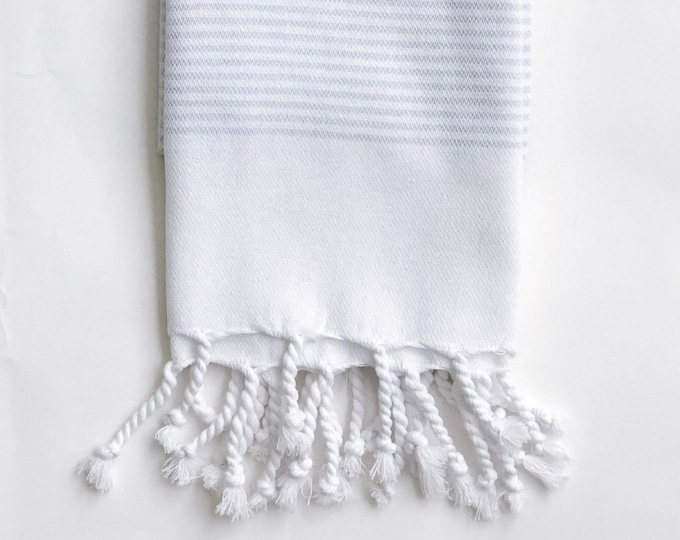 Light-Grey Turkish Kitchen Towel