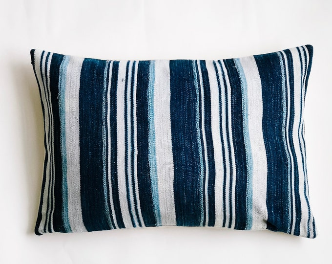 Striped African Indigo Lumbar