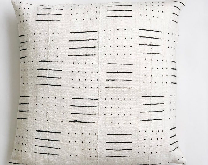 Large White African Mud Cloth No.898