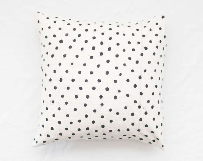 Dotted White Mudcloth