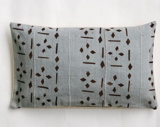 Grey & Brown Rustic Lumbar