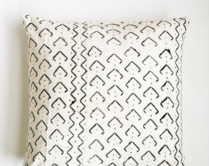 White African Mudcloth Pillow No. 675