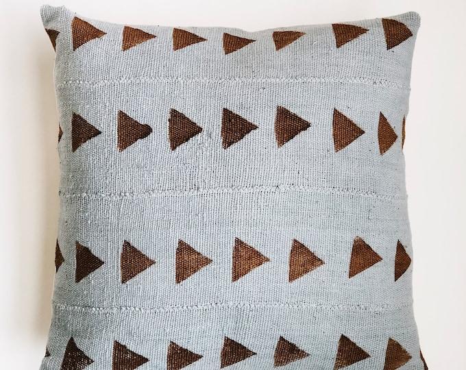 Brown Triangle & Grey Mudcloth