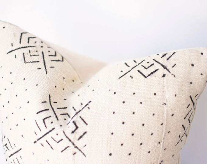 Featured listing image: White African Mud Cloth No.002