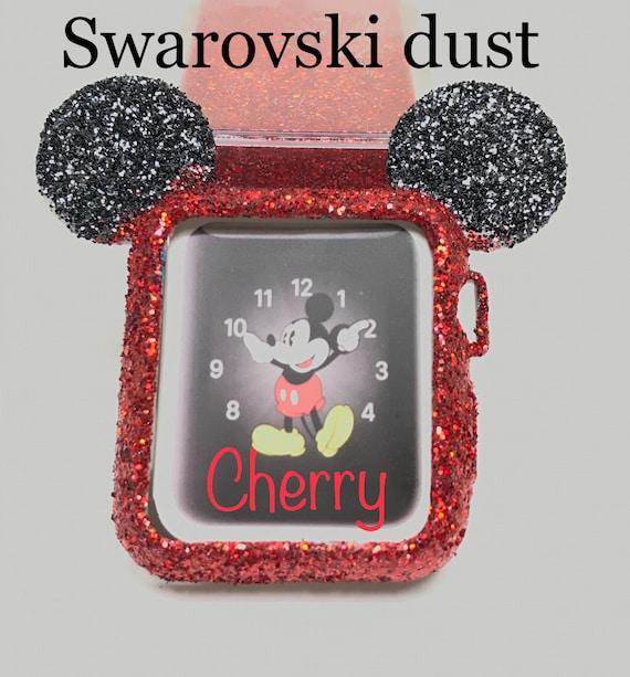 427cfe242 Swarovski dust Mickey ears case cover Cherry | Etsy