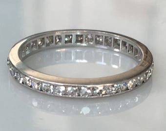 Vintage Platinum Victorian .50ct Eternity Ring