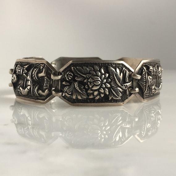 Vintage Asian Sterling Mid Century Bracelet
