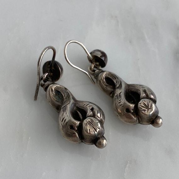 Victorian Silver Earrings - image 10