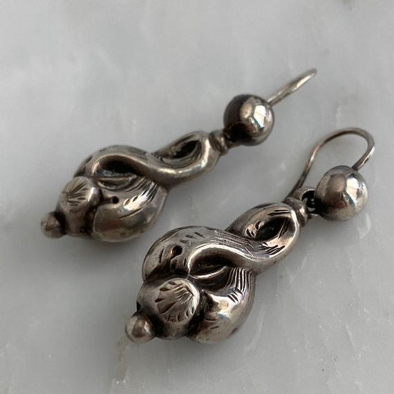 Victorian Silver Earrings - image 8