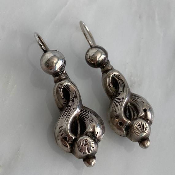 Victorian Silver Earrings - image 4
