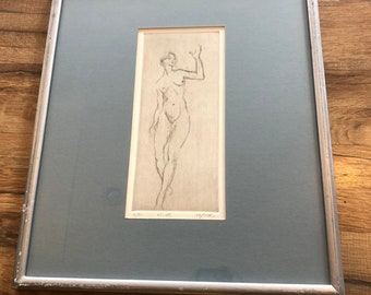 Gold Framed Fusili Etching Art Print