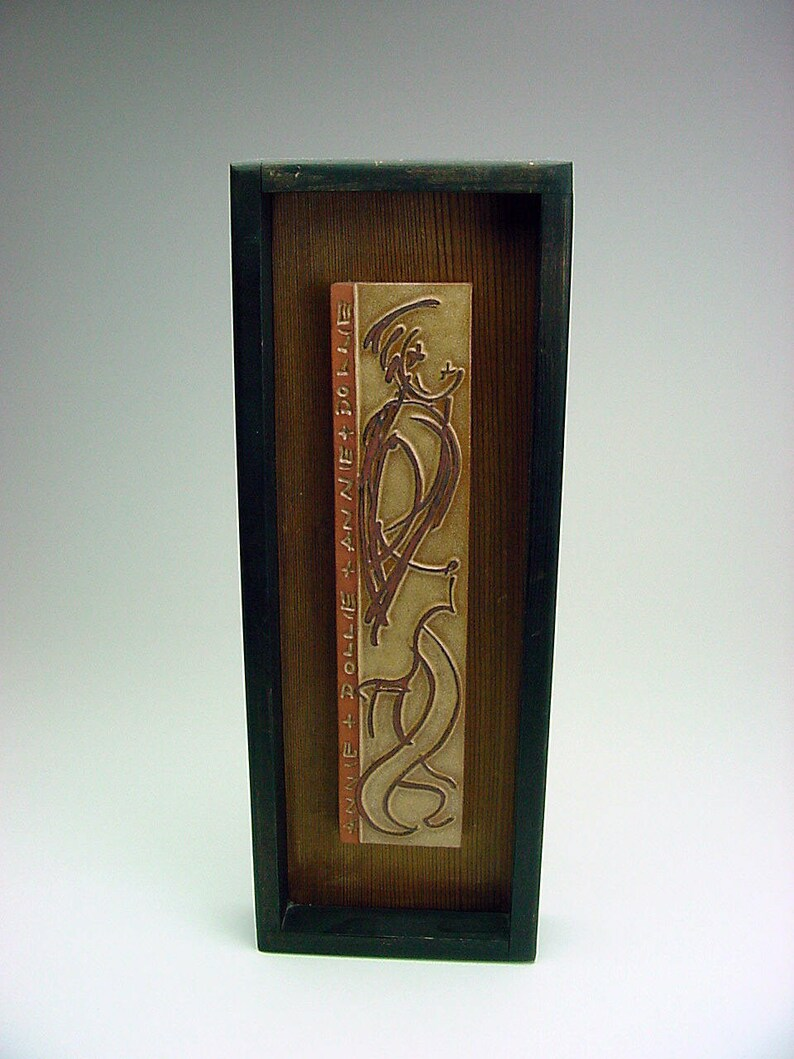 Framed Art Tile California Labeled Listed MCM Artist Adele Chase 1917-2000