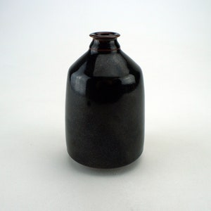 MCM Listed Peg Tootelian art studio oriGINAL pottery weed pot bottle VASE form Chicago Illinois Edna Arnow protege GINkgo leaves