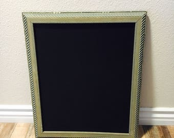 Gold/Teal Framed Chalkboard; Gold Wedding Sign; Chalkboard Easel; Chalkboard Frame