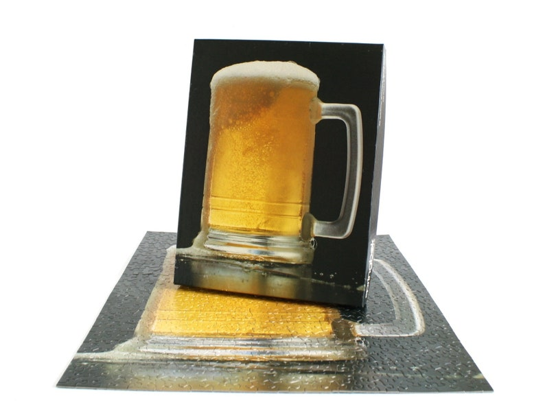 Springbok Puzzle 500 Pieces Cheers Beer Mug Jigsaw Puzzles For Adults 1980s  Vintage Hallmark Cards
