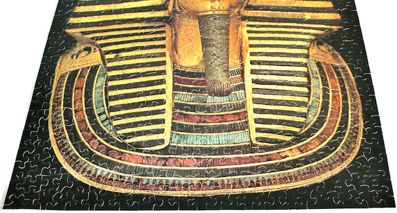 Springbok Puzzle 500 Pieces King Tut Jigsaw Puzzles For Adults 1970s  Vintage Hallmark Cards