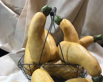 Yellow Summer Squash, Yellow Squash, Fake Food, Zucchini Squash, Artificial Vegetables, Fake Squash, Restaurant Prop, Vegetables, Kitchen
