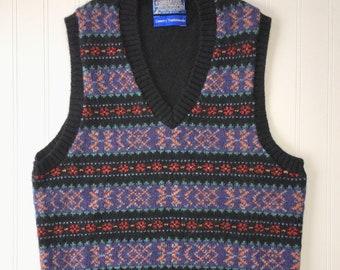 defbd86dba05 Vintage AMANO Knit Pullover Crew Neck Sweater Vest Sleeveless