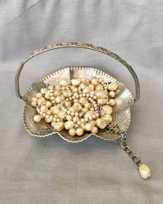1980/'s Ivory Colored Simulated Pearl Tie Tack.