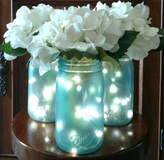Sea Glass Mason Jar Centerpieces Mason Jar Centerpieces