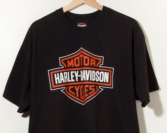 70ab0ee788b6 Vintage Harley Davidson T-Shirt Made in USA Motorcycle Car Racing Biker  Gang Club Motorhead Lemmy Leather Rocker Punk Misfit Outlaw Supreme