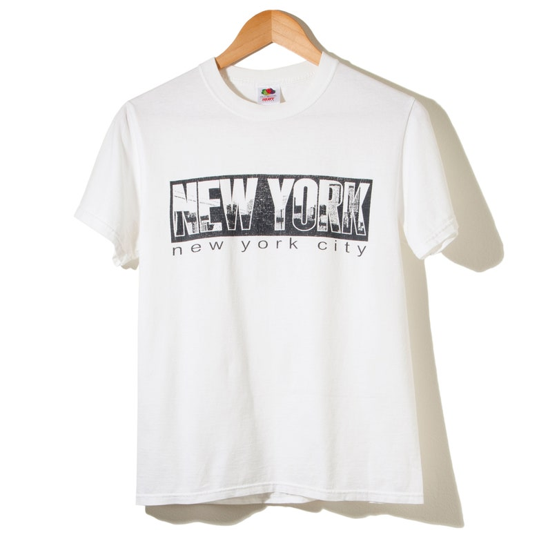9259c46ea17b05 90s 80s Vintage New York City Tourist Travel T-Shirt White