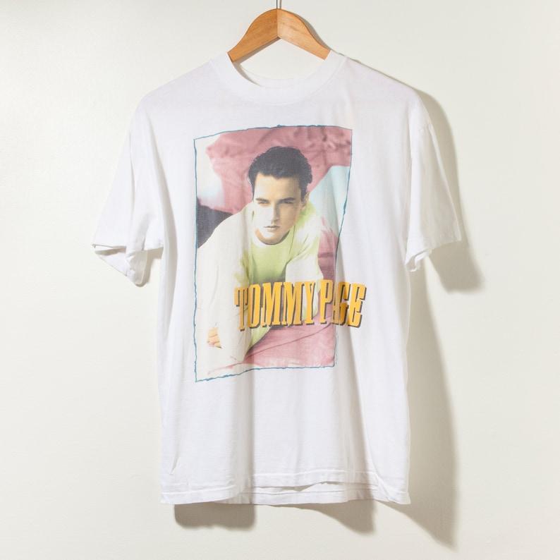 1f5ef58a Vintage 90s Tommy Page Tour Rap T-Shirt Tee Single Stitch   Etsy