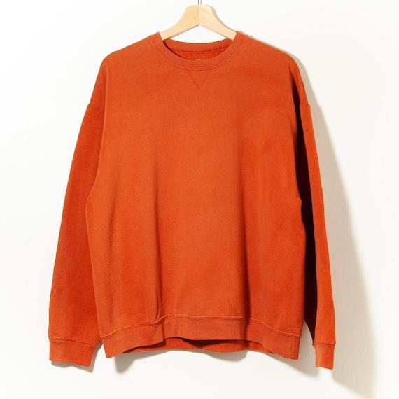 90s Vintage Distressed Crewneck Sweatshirt Burnt O