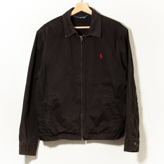 90s Vintage Polo Ralph Lauren Bomber Jacket Canvas