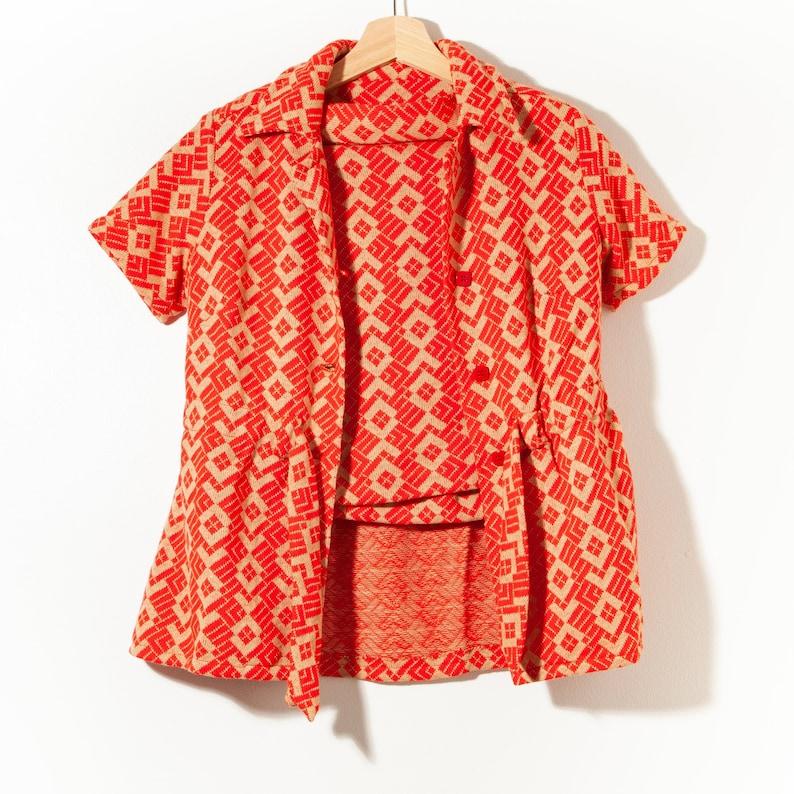 Vintage Orange skirt set
