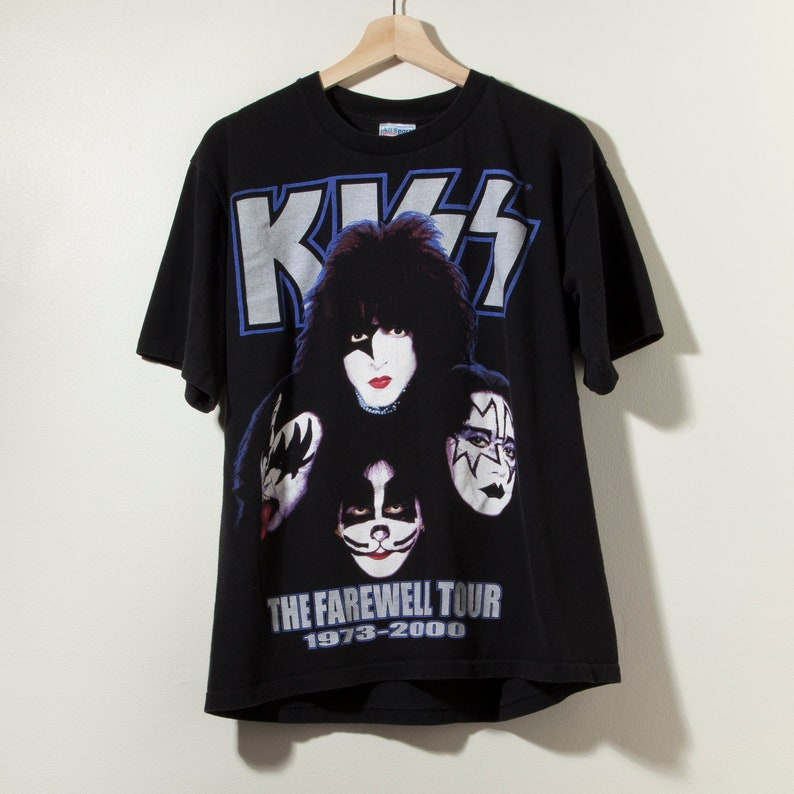 4ea462fb6 Vintage 90s Kiss Tour T-Shirt Band Rap Tee All Over Print | Etsy