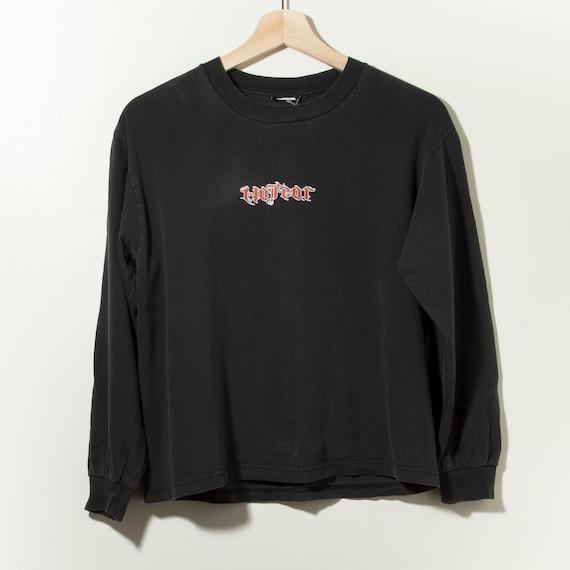 90s Vintage No Fear Long Sleeve Distressed Black … - image 1