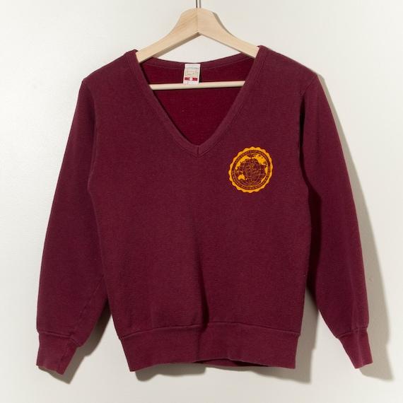 60s Vintage V-Neck Single Stitch Sweatshirt Univer