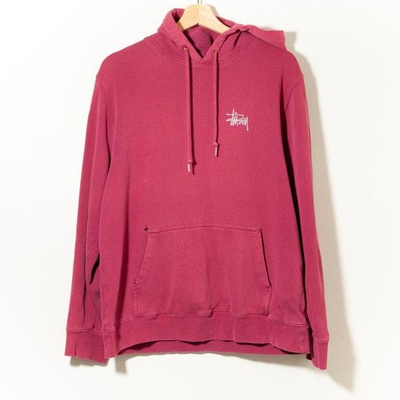 90s Vintage Stussy Hoodie Pullover Sweatshirt Made