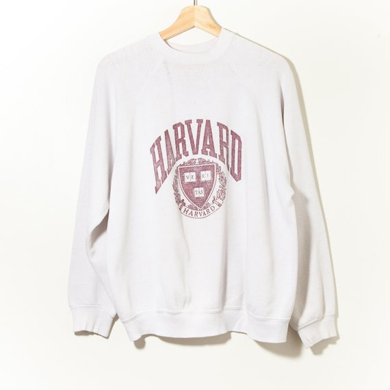 80s Vintage Harvard University Distressed Raglan S