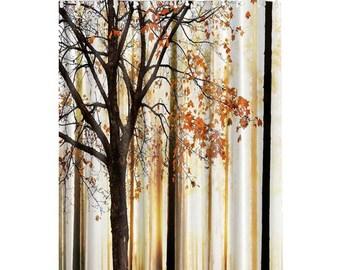 Trees Digital Printed Bathroom Shower Curtain