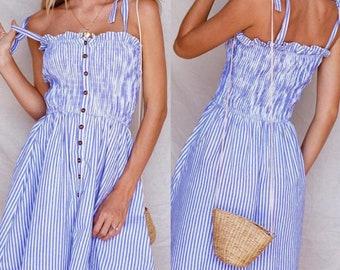 Women's Blue Summer Dress
