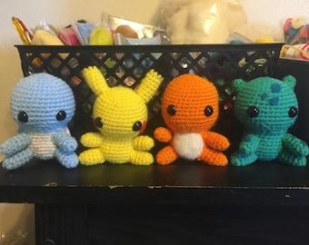 Pokemon starters plush