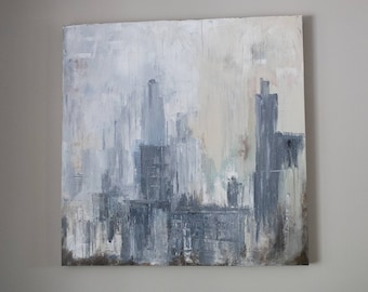 """Cityscape #5 - New York City Painting - 36"""" x 36"""" By Sam Blakeley"""
