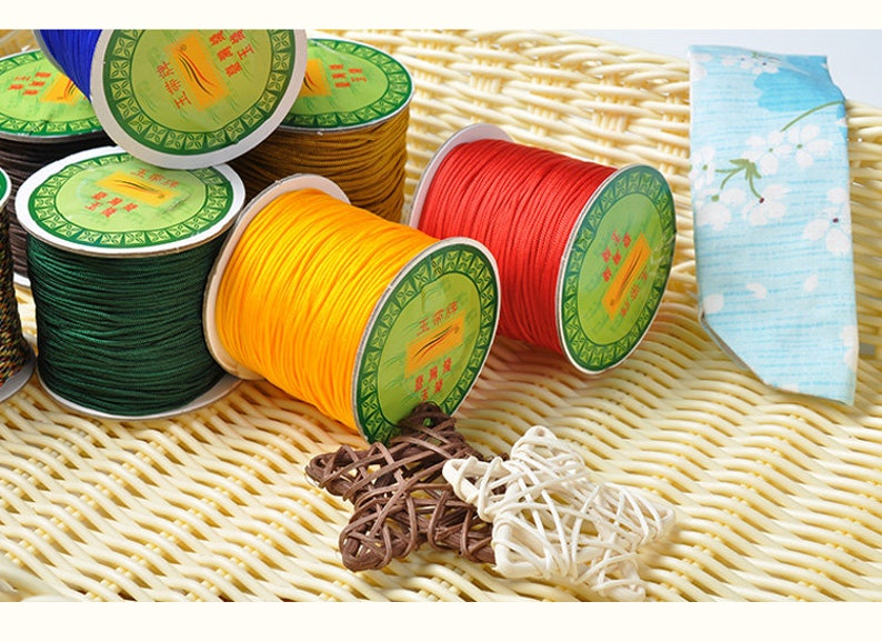 DIY Jewelry Beading String,Chinese Knot Cords,Nylon Cords,Round Thread Cords,Beading Wrap,For Bracelet /& Necklace 1.0 mm 1.5 mm