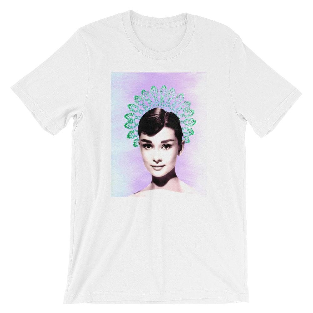 6ced3ea8531bd1 Audrey Hepburn   T-Shirt graphique courtes manches courtes graphique  unisexe 9e194b
