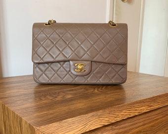 055133daacf Chanel Taupe Medium Lambskin Double Flap Bag