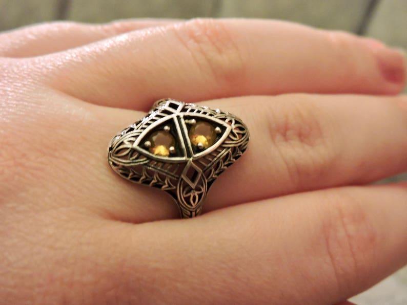 Art Deco Citrine Ring