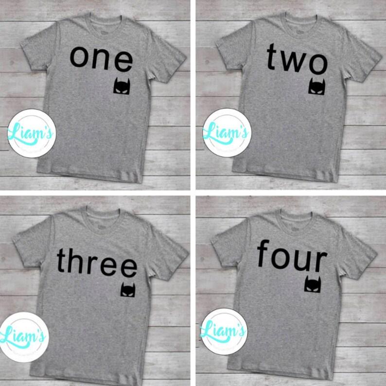 la meilleure attitude a74d2 75985 T-shirts personnalisés pour enfant, chemise d'anniversaire Batman, chemise  de l'âge, shirt enfant, t-shirt personnalisé, chemise batman, batman ...