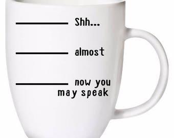 Custom Coffee Cup, mug, dishwasher and microwave safe