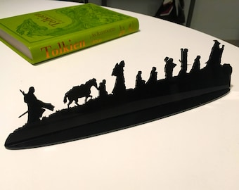 The Fellowship of Ring Silhouette Acrylic Cutout - FREE SHIPPING in US - Perfect Bookshelf Decoration