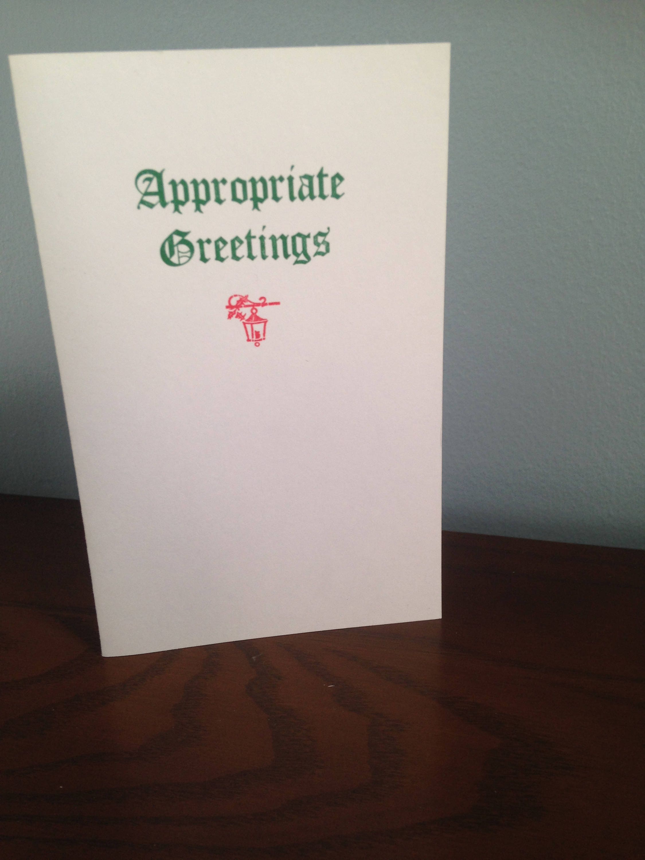 Appropriate Greetings Holiday Card