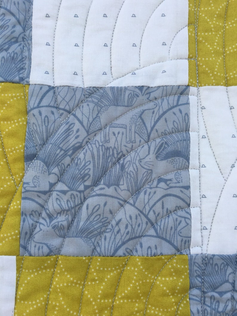 Handmade baby toddler cot quilt or play mat