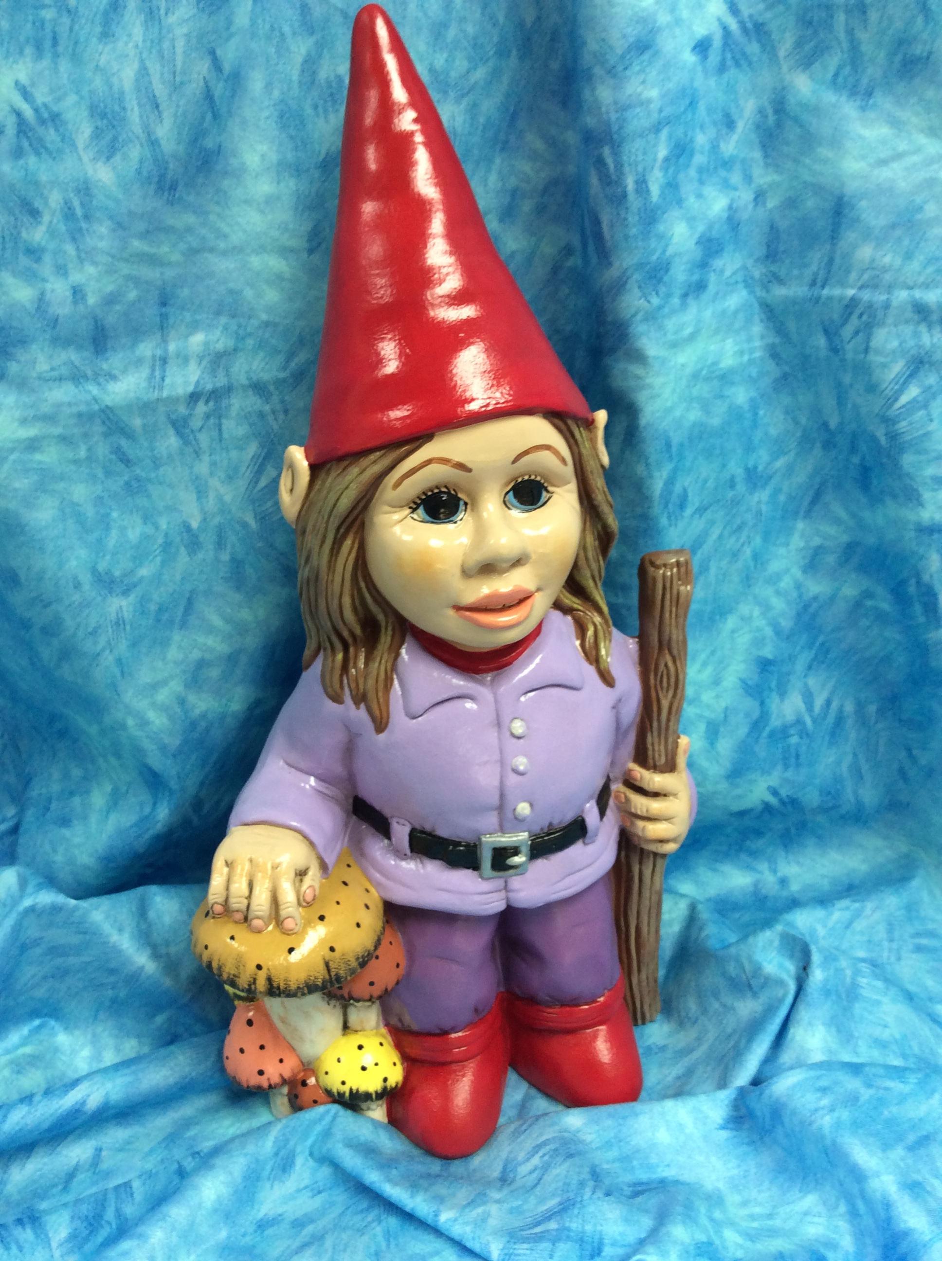 Ceramic Girl Gnome Gnome Girl Gnome Garden Art Outside | Etsy