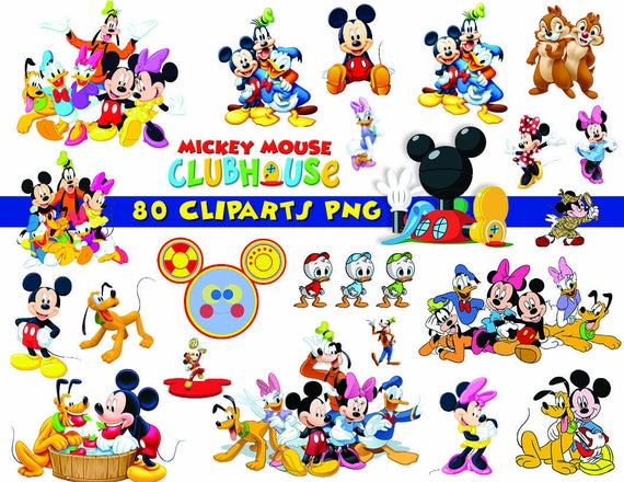 instant dl 80x mickey mouse clubhouse clipart printable rh etsy com mickey mouse clubhouse logo clipart mickey mouse clubhouse logo clipart